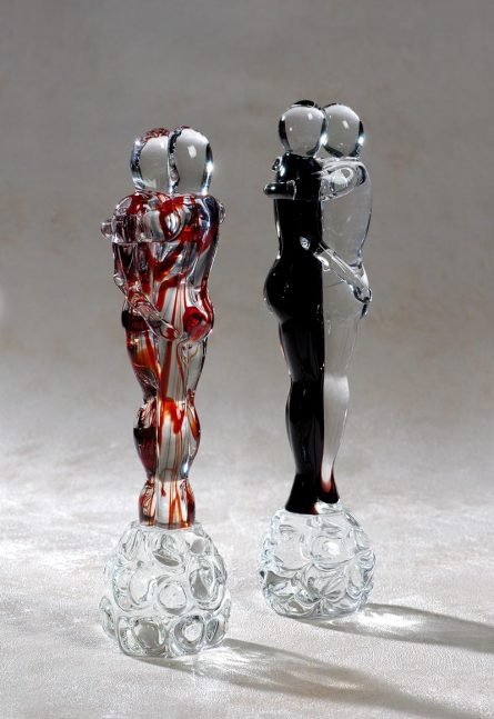 sculpture in murano glass