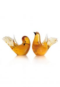 uccellini in vetro