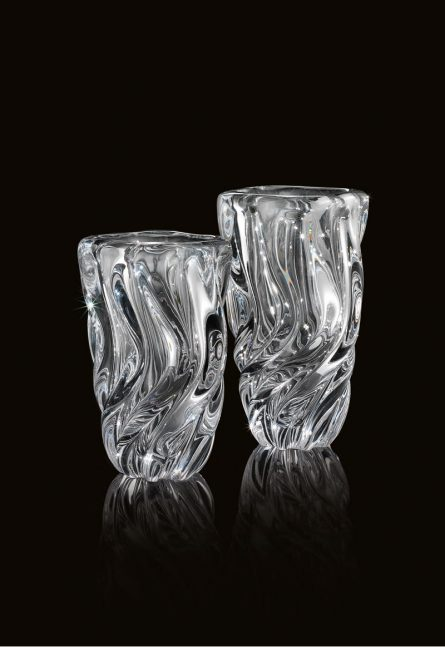 rifled glass vases