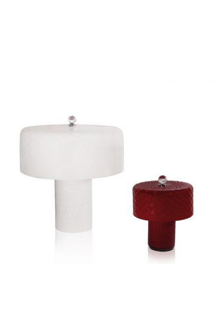 lampada da tavolo in vetro