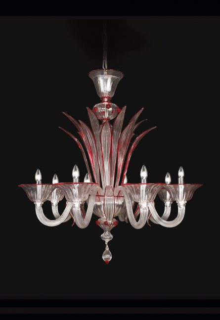 handmade glass chandelier