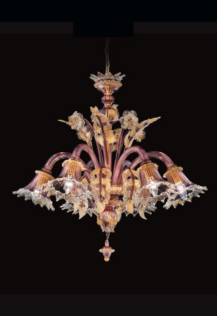 classic chandelier with gold foil