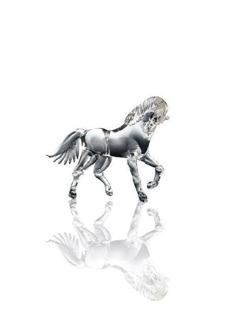 handmade glass horses
