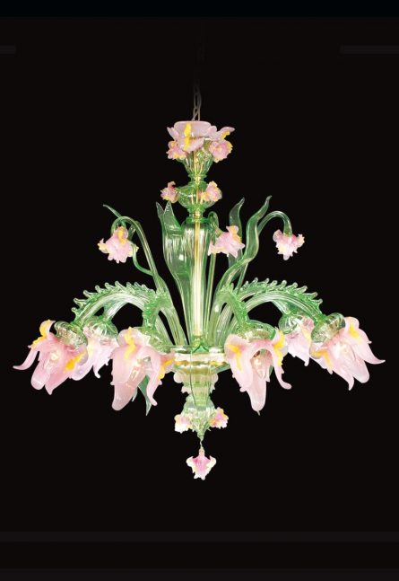 murano floral glass chandeliers