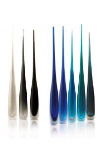 vasi monofiore in vetro di murano