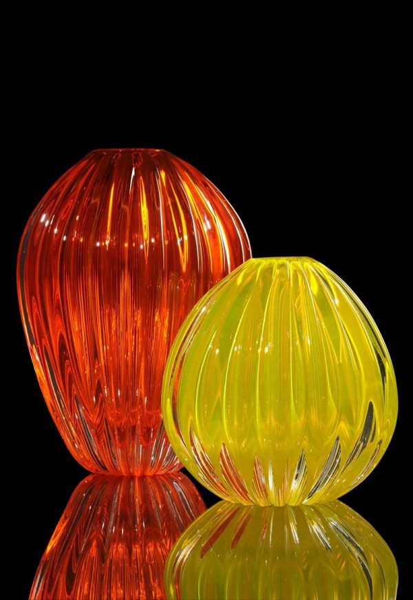 colored vases in Murano glass