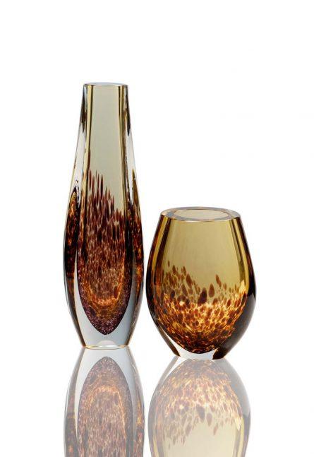 vaso in vetro ambra