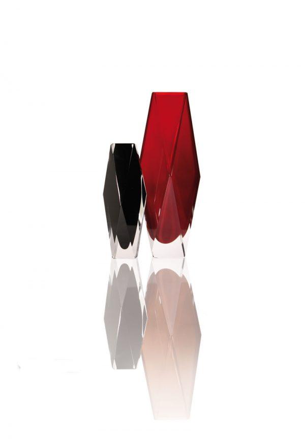 murano cut glass vases