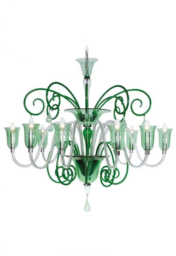 murano glass chandelier handmade