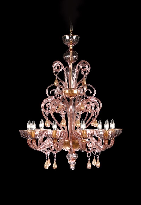 Michiel lampadario classico in vetro fatto a mano for Lampadario classico