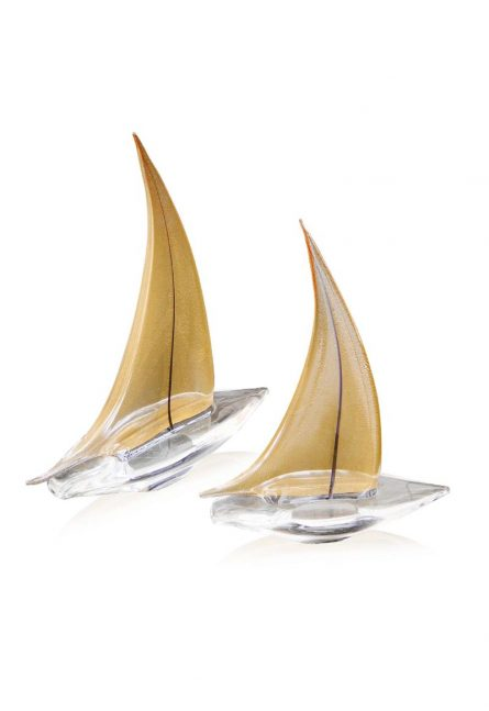 murano glass sailboats