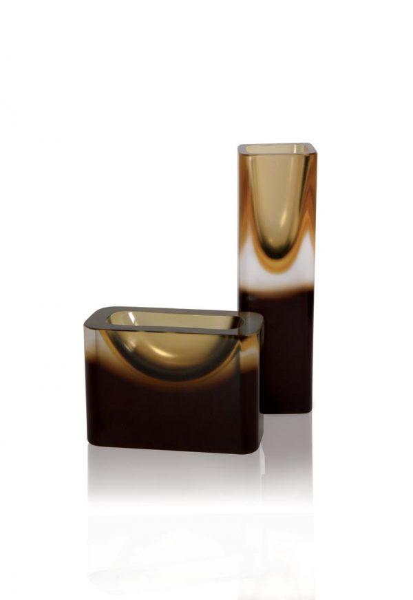 vaso in vetro molato