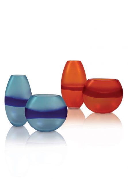 vasi in vetro satinato