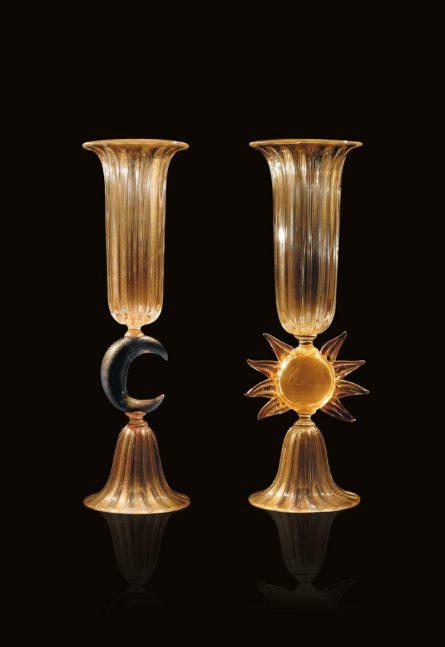 murano artistic glass vases