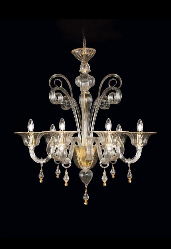 lampadario classico in vetro