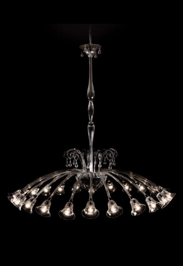 lampadario in vetro fatto a mano