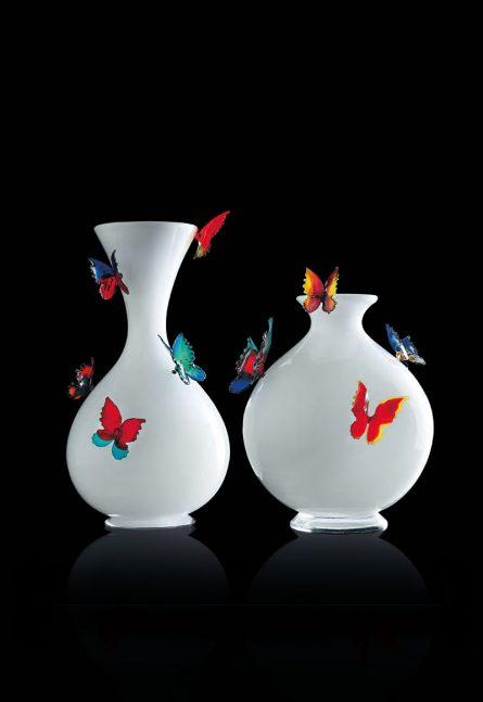 milkwhite glass vases